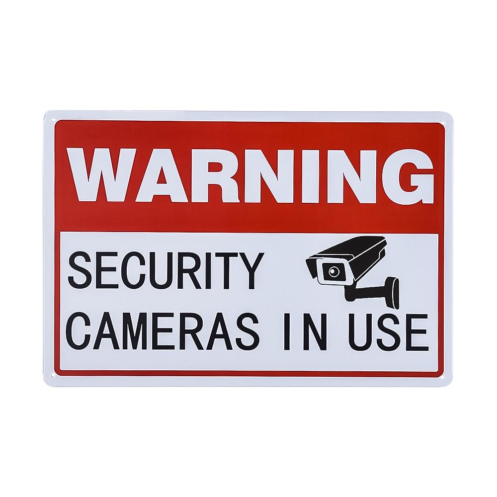 Vintage Metal señal advertencia Video vigilancia cámaras de seguridad en uso