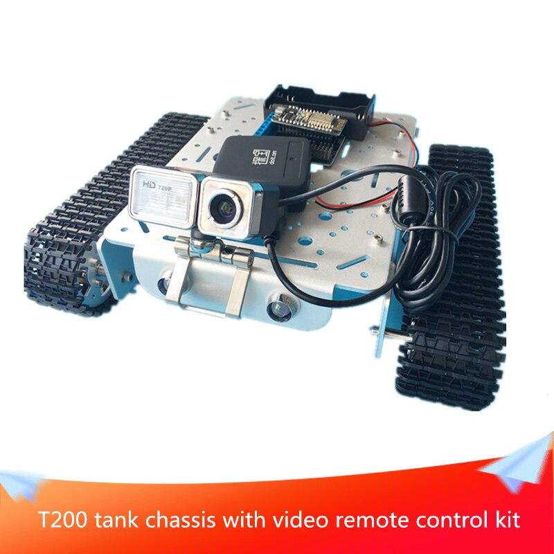 T200 WiFi Video trepador de Control remoto chasis del tanque coche Video transmisión Control Robot coche con cámara
