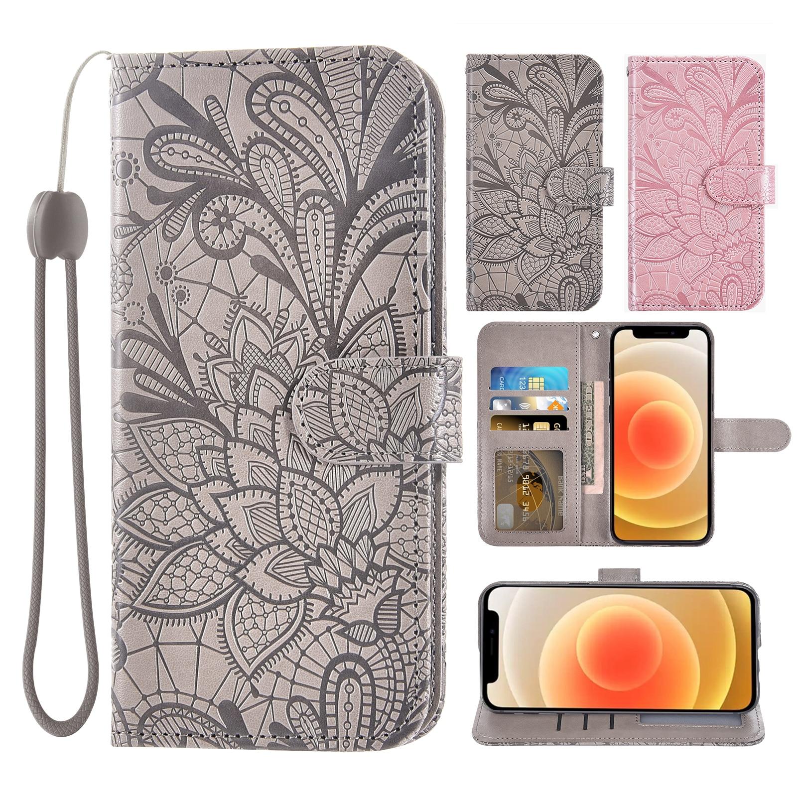 Luxury Flip Cover Leather Wallet Phone Case For Nokia G10 Nokia G20 Credit card slot wrist Women Men
