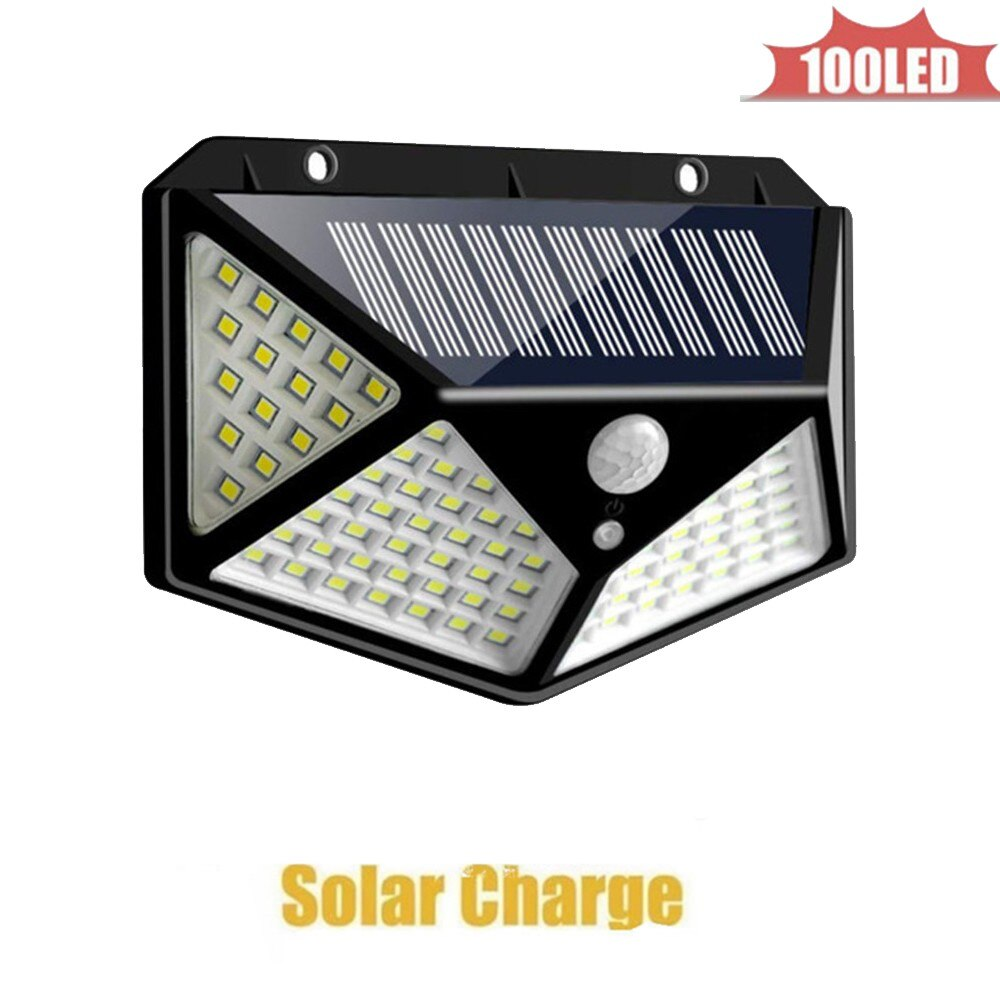 solar Lamp Garden Led 100 LEDs Lights Bright Motion Sensor Remote Control Gardern Decoration Outdoor Wall Waterproof 4 sided 270