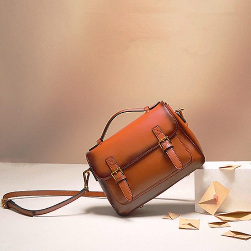 جلد طبيعي ساعي البريد حقيبة حقائب بيد علوية Crossbody للنساء الفاخرة الكتف رسول جودة خمر 100% المرأة حمل 2021
