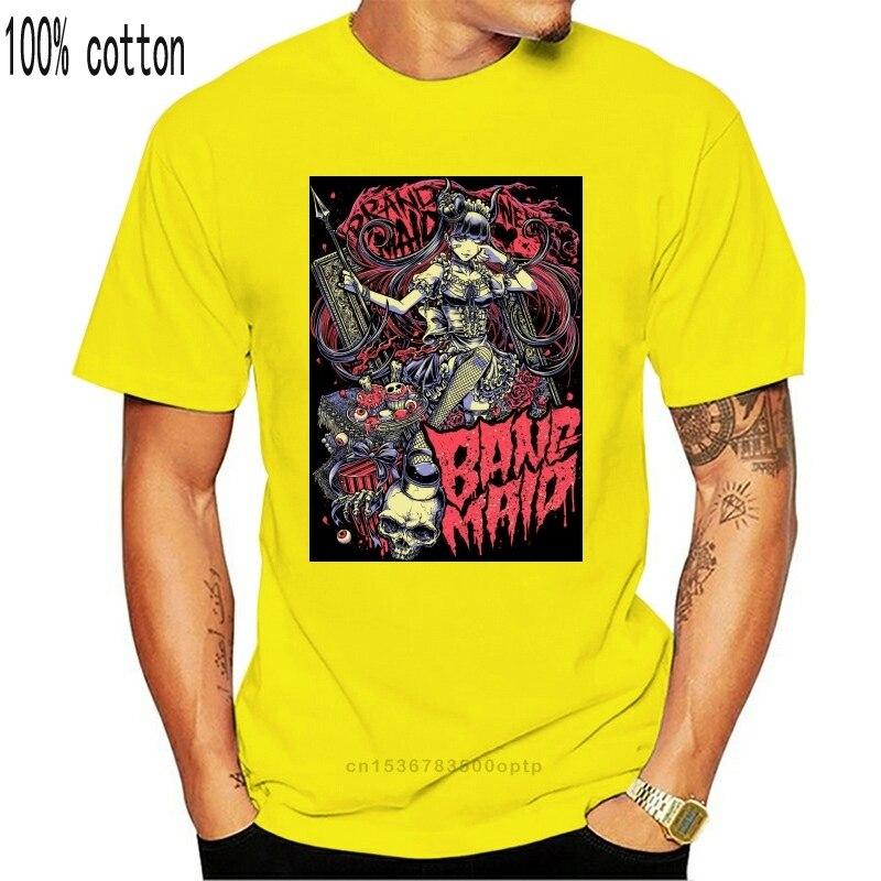 3D Mannen Hot Goedkope Korte Mouw Mannelijke Tshirt Band Maid Poster Ver 1 T-shirt (Zwart) S 5Xl 032011