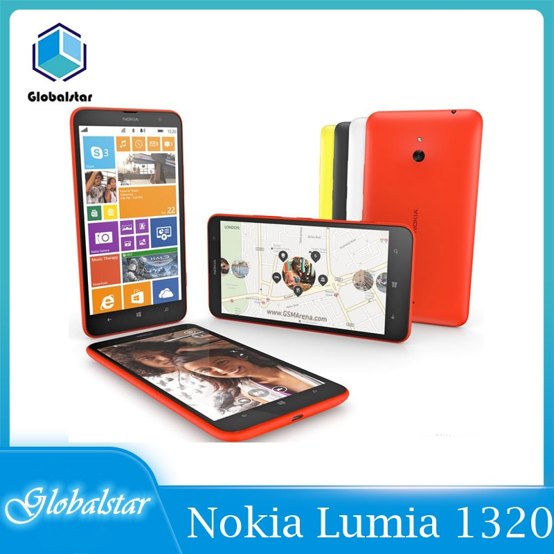 -Teléfono Nokia Lumia 1320 reacondicionado, móvil Original libre, barato, Dual Core, 6,0...