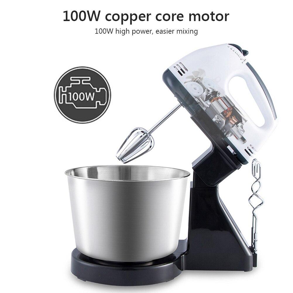 1.7L eléctrico planetaria soporte mezclador de masa de huevo pastel ensalada alimentos para hornear crema azotes máquina licuadora tazón de acero inoxidable