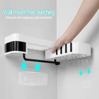 1pc wall mounted type shampoo shower shelf bathroom corner shower shelf bathroom holder organizer kitchen storage rack organizer