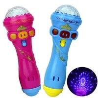 hot funny lighting wireless microphone model gift music karaoke 2020 cute mini educational kids toys for children birthday gifts