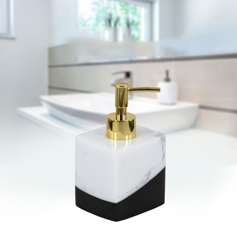 250/400/500/600ml Fashion European Press Bottle Shampoo/Hand Washing/Shower Gel Bottles Resin Marbling For Home Hotel AC889