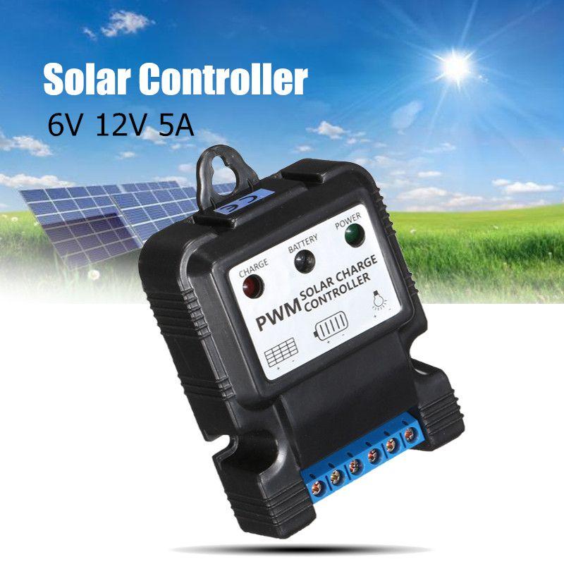 6 v 12 v 5a controlador de carga do painel solar automatico carregador bateria regulador