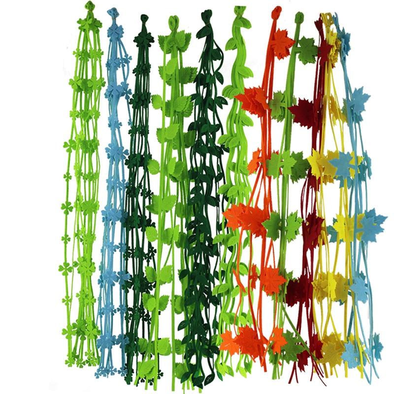 5pc Willow Leaves Four-Leaf Clover Cutting Felt Lancet Fabric Cloth Felt Kids Room Home Kindergarten Decor Stickers DIY Supplies