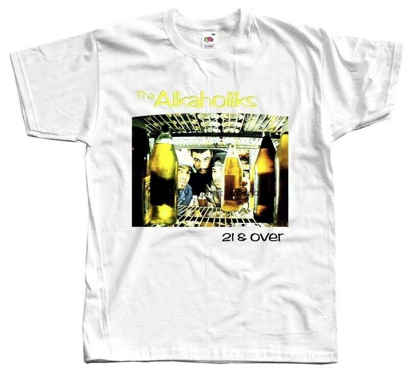 Tha alkaholiks-21 & over álbum capa 1993 t camisa dtg (branco) S-5XL