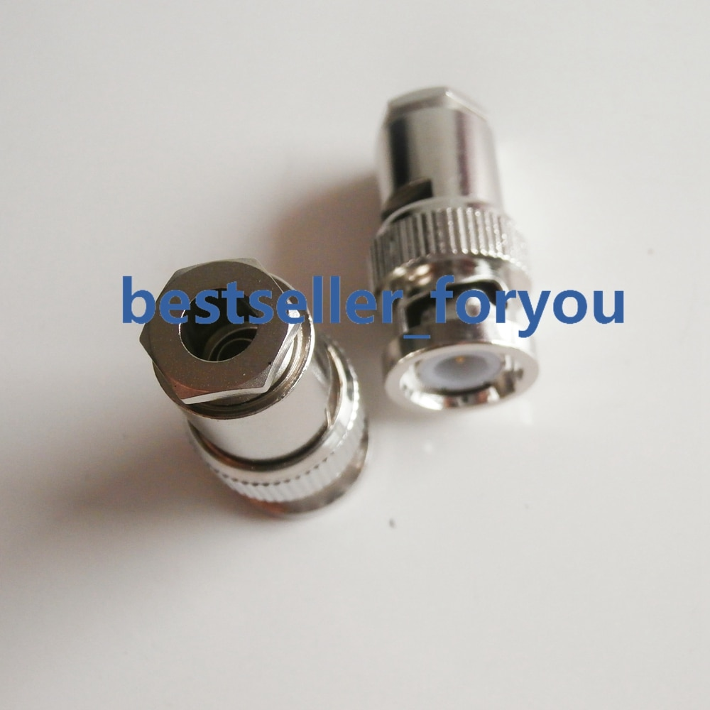 1Pcs BNC Männlichen Q9 Clamp Solder Connector Für LMR-195 RG58 RG142 RG400 RG223 Kabel