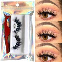 1 Pair 8D Fake Eyelashes Mink Soft Handmade Fluffy Cruelty Free Lashes Natural Multilayers Eyelashes