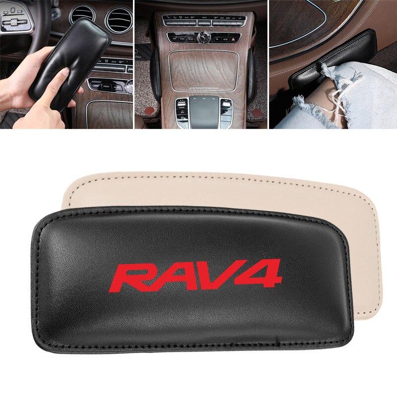 Cojín de pierna almohadilla de rodilla de coche para Toyota RAV 4 RAV4 cojín de asiento de coche soporte de pie almohada de cuero 1 ud.