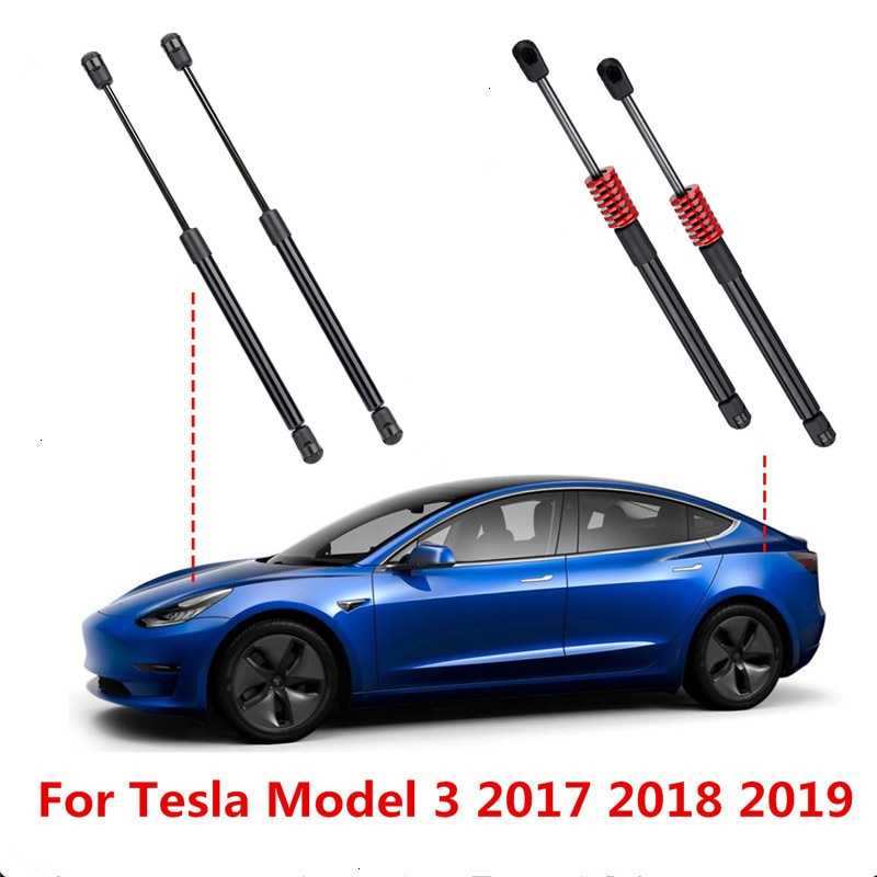 2X передний/задний багажник автомобиля двигатель хвост ворота багажника загрузки газа пружинный амортизатор стойки поддержка для Tesla модел...