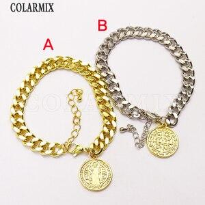 8 шт., плоский браслет-цепочка, Модный Круглый браслет с подвесками в стиле панк, хип-хоп, ювелирный браслет 7352