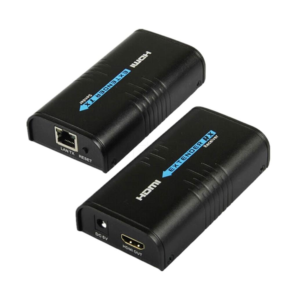 HDMI Extender Over IP/TCP UTP/STP CAT5e/6 Rj45 LAN Network Support 1080p 120m Extension Like HDMI Splitter Transmitter Receiver 2020 best 4k hdmi extender transmitter receiver over cat5e cat6 rj45 ports hdmi extender loop 120m hdmi extender ir for ps4 hdtv