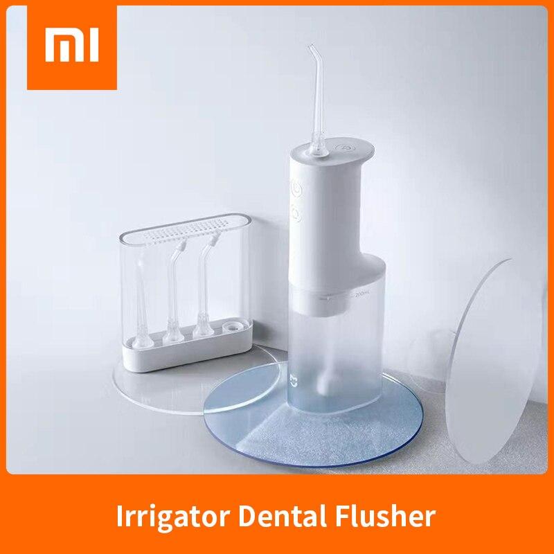 Irrigador Dental Original Xiaomi Mijia Mi, irrigador Dental de alta frecuencia, estabilizador de voltaje de agua pulsada, 4 niveles de engranaje, 200ml