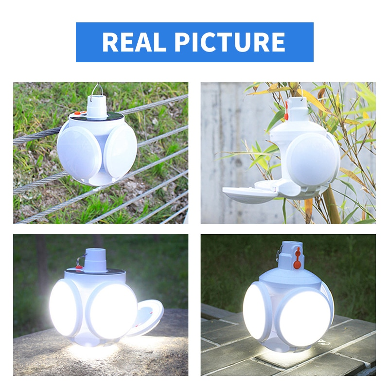 Светодиодный фонарик на солнечной батарее с зарядкой от USB, ночник, портативный поисковый светильник, отличный светодиодный уличный фонарь ...