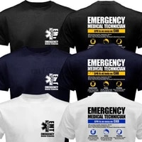emt emergency medical technician service ems paramedic cpr first rescue t shirt