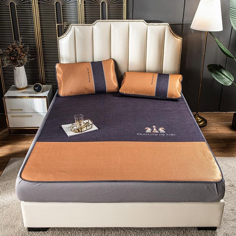 2020 جديد الطباعة الرقمية الحرير حصيرة غطاء السرير المجهزة ورقة سادات 2/3 pcs150x200cm/180x200 سنتيمتر الطباعة الفراش.