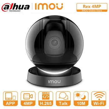 Dahua Imou Rex 4MP Smart Cruise Indoor Wifi Camera Panoramic View Built-in Siren Smart Tracking Two-Way Talk Ethernet Port