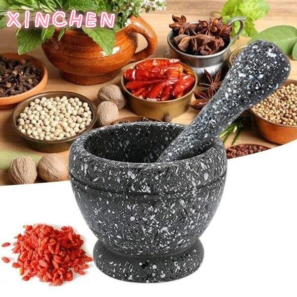 Набор для смешивания пестика из смолы, измельчение чеснока, трав, специй, чаша, кухонные инструменты для ресторана