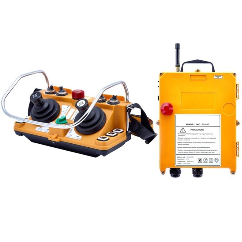 Telecontrol F24-60 industrial universal wireless radio remote control joystick AC/DC for crane joystick1transmitter 1receiver