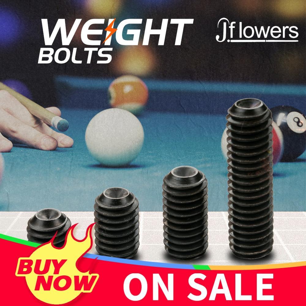 Jflowers Weight Bolt Adjust 0.2/0.4/0.5/1.1oz 12/19/25/45mm 4 Pieces Set of Weight Bolt Adjustable Billiard Accessories