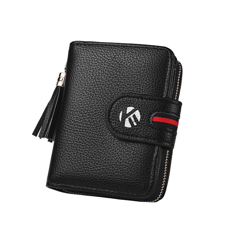Новый мужской кошелек, короткий горизонтальный кошелек, персонализированный деловой мужской многофункциональный кошелек на молнии с трем...