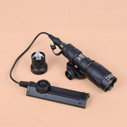 Tático surefir m300 m300a mini scout luz arma lanterna tocha caça rifle luz com função dupla interruptor de fita
