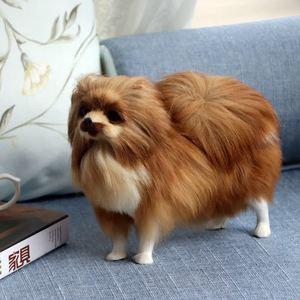 Imitation Dog Ornaments Bomei Dog Animal Model Home Desktop Decorations Fur Crafts Figurines & Miniatures