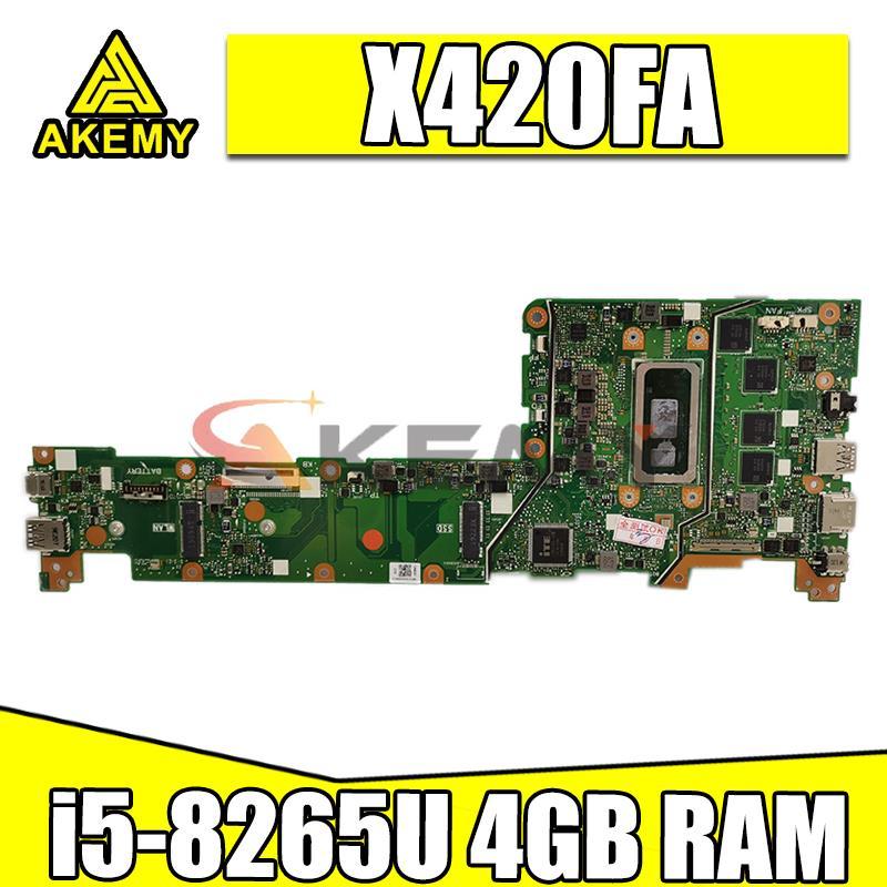الجديد! اللوحة الرئيسية الأصلية X420FA لشركة آسوس VivoBook 14 X420FA X420F X420 اللوحة الأم للكمبيوتر المحمول مع i5-8265U 4GB RAM الشحن السريع