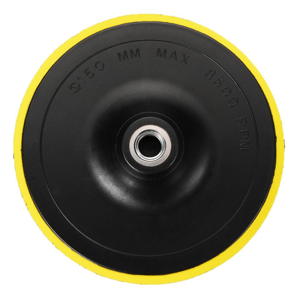 1 unidad de almohadilla de respaldo M14 para el capó del pulidor del coche Dia.75, 100.125.150mm, rueda de amoladora angular, lijadora de disco de papel, herramienta de máquina pulidora automática
