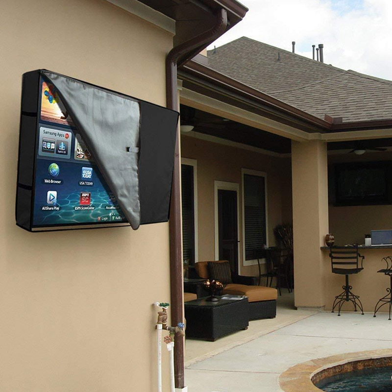 New Outdoor TV Screen Cover with Transparent Film LCD Television Protector Rainwater Ultraviolet Dust (Resistant) FC130 enlarge