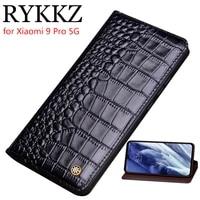 genuine leather flip case for xiaomi mi 9 pro cover magnetic case for xiaomi 9se mi9 transparent cases leather cover phone cases