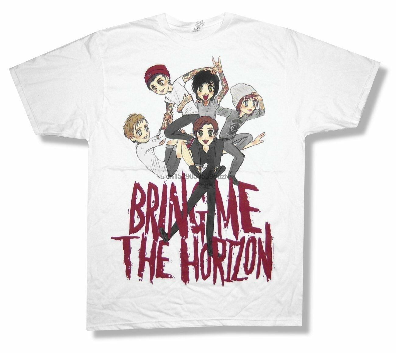 Bring Me The Horizon Sketch pila caricaturas animé camiseta nuevo adulto Xl