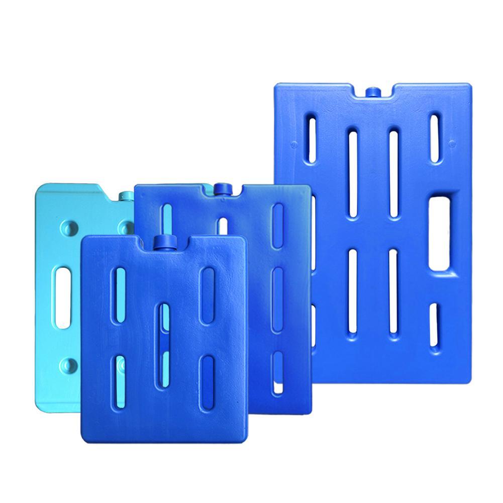 Caixa de refrigeração de água fria, refrigerador azul reciclável, mantém o gelo fino, congelador pead, caixa de injeção de água para refrigeração de alimentos