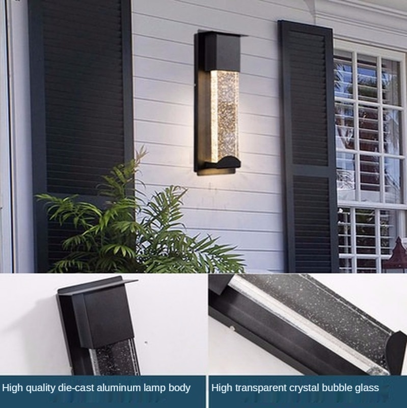 Outdoor Waterproof Wall Lamp Induction Crystal Modern Minimalist Balcony Corridor Aisle Courtyard enlarge