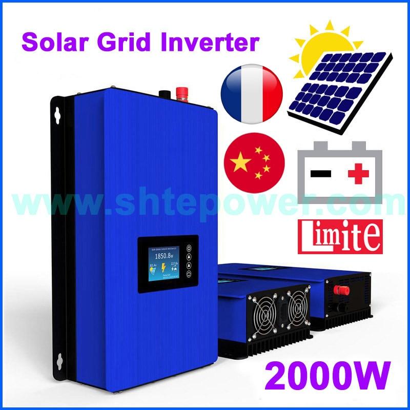 2000W MPPT Solar Grid Tie Inverter for solar panle or Battery Discharge 2KW solar inverter DC 45-90V 60-110V to AC 220V230V240V