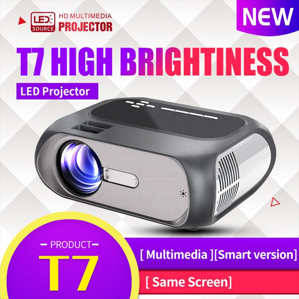 T7 Led Projektor Full Hd Unterstützung 1080p Mini Projektor Home Media Player Tragbare Multimedia Home Cinema Theater Video Film