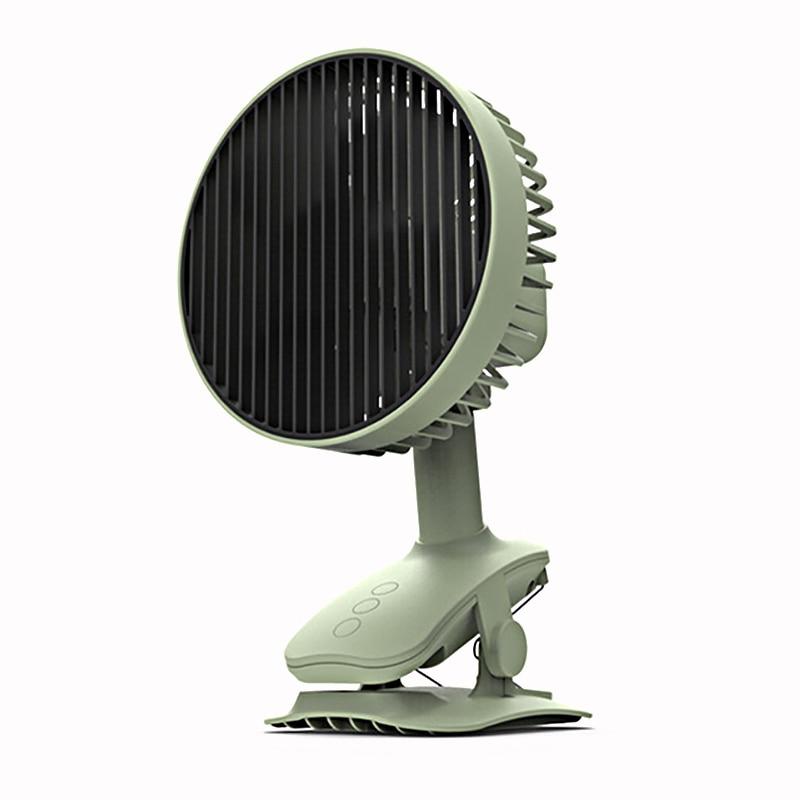 منخفضة الضوضاء غير فرشاة مروحة محرك سطح المكتب المحمولة الدورية مروحة كليب USB قابلة للشحن مكيف الهواء غرفة مكتب مبرد الهواء