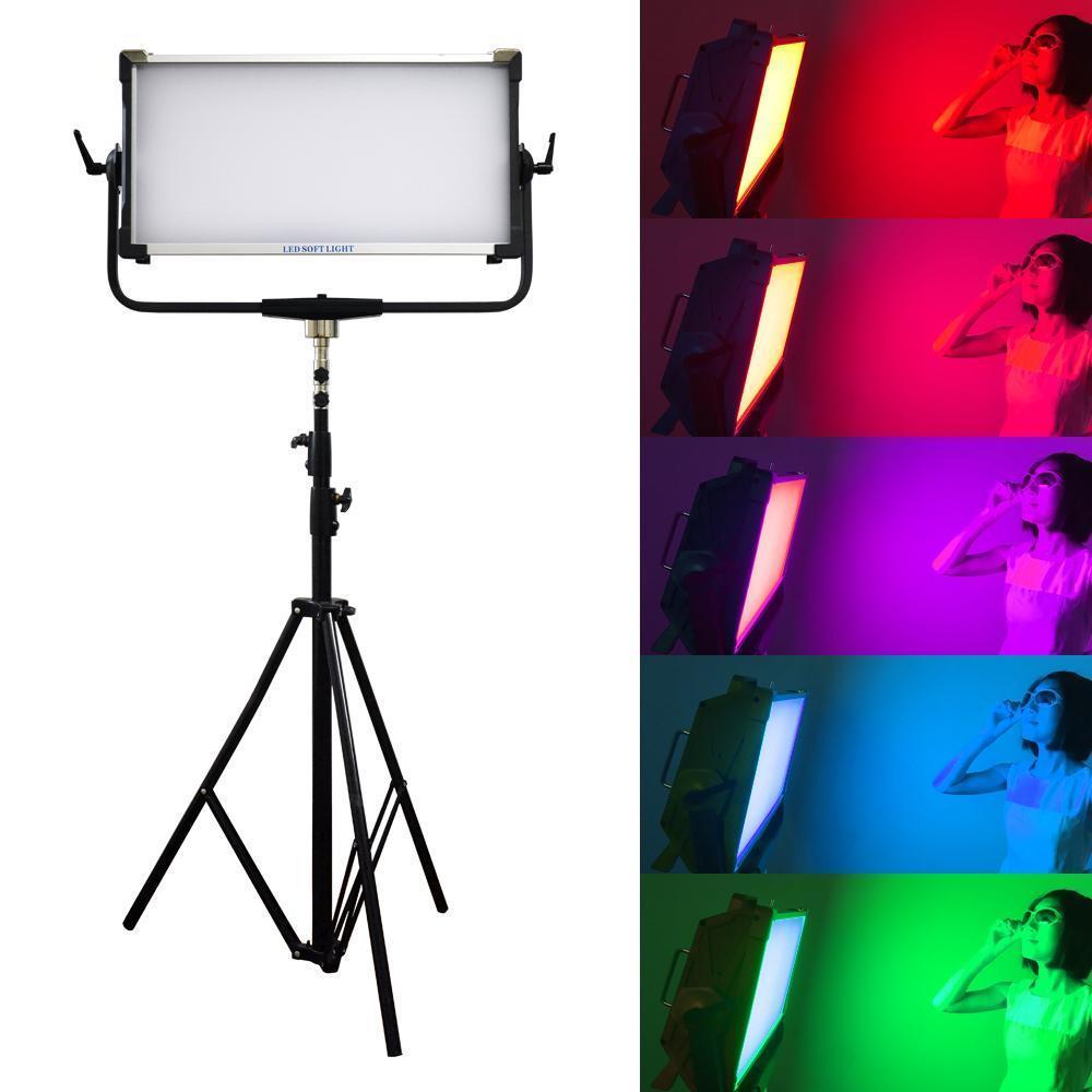300w rgb ligth dmx controle yidoblo AI-3000C led estúdio luz da lâmpada de vídeo preto 2800k-9990k iluminação de fotografia para estúdio de vídeo