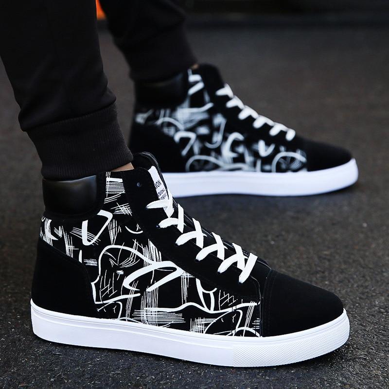 Fashion Men Shoes New Men Casual Shoes High Top Sneakers Men Vulcanized Shoes Platform Sneakers Qual