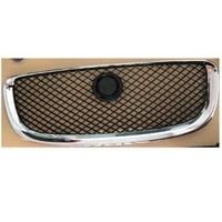 rollsorver front bumper grille grill chrome surrounding black mesh for jaguar xj 2010 2015 oem c2d23092