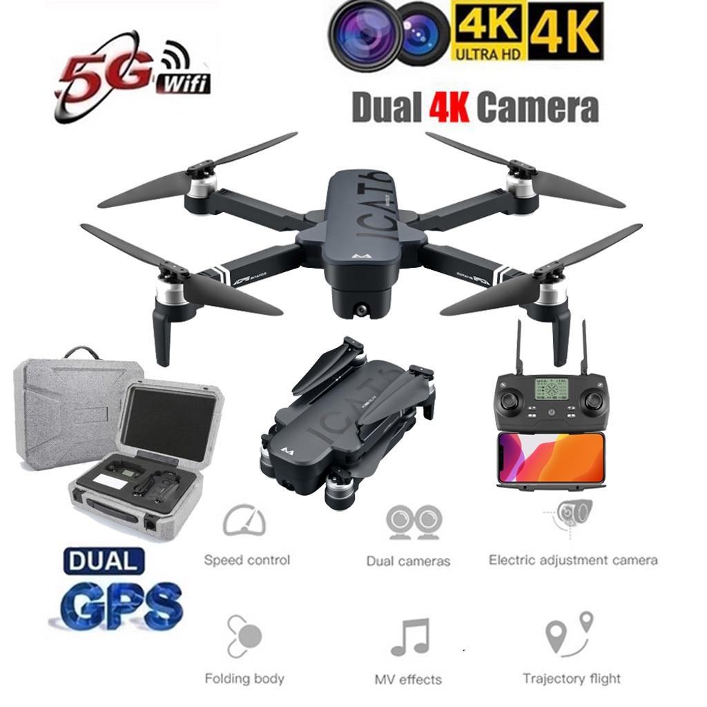 ICAT6 GPS 5G WIFI FPV 4K cámara sin escobillas autofoto Drone plegable RC Quadcopter Drone Quadcopter juguetes de los niños plegable # G20