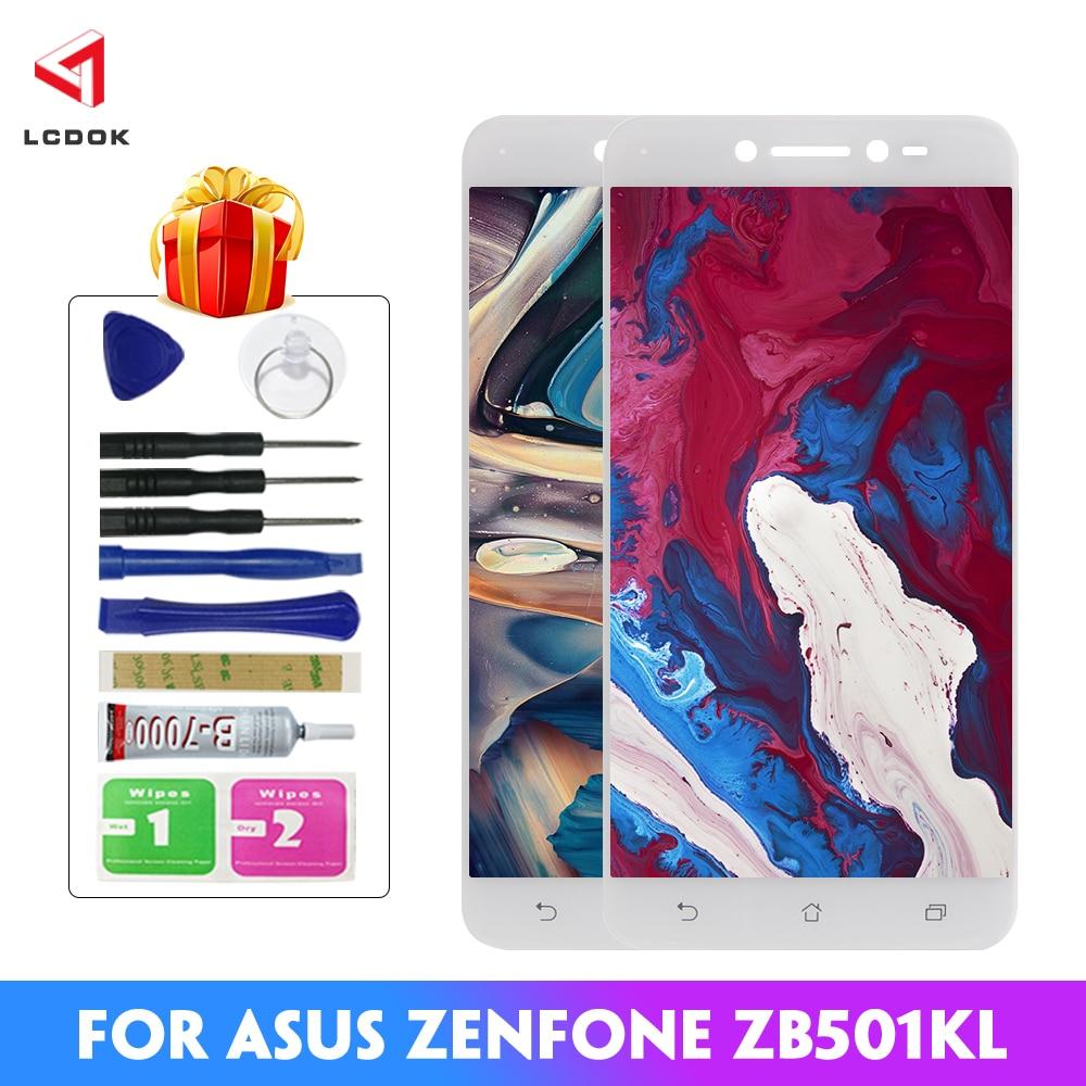 100% probado LCD para Asus Zenfone Live ZB501KL X00FD A007 pantalla LCD MONTAJE DE digitalizador con pantalla táctil Panel piezas de repuesto
