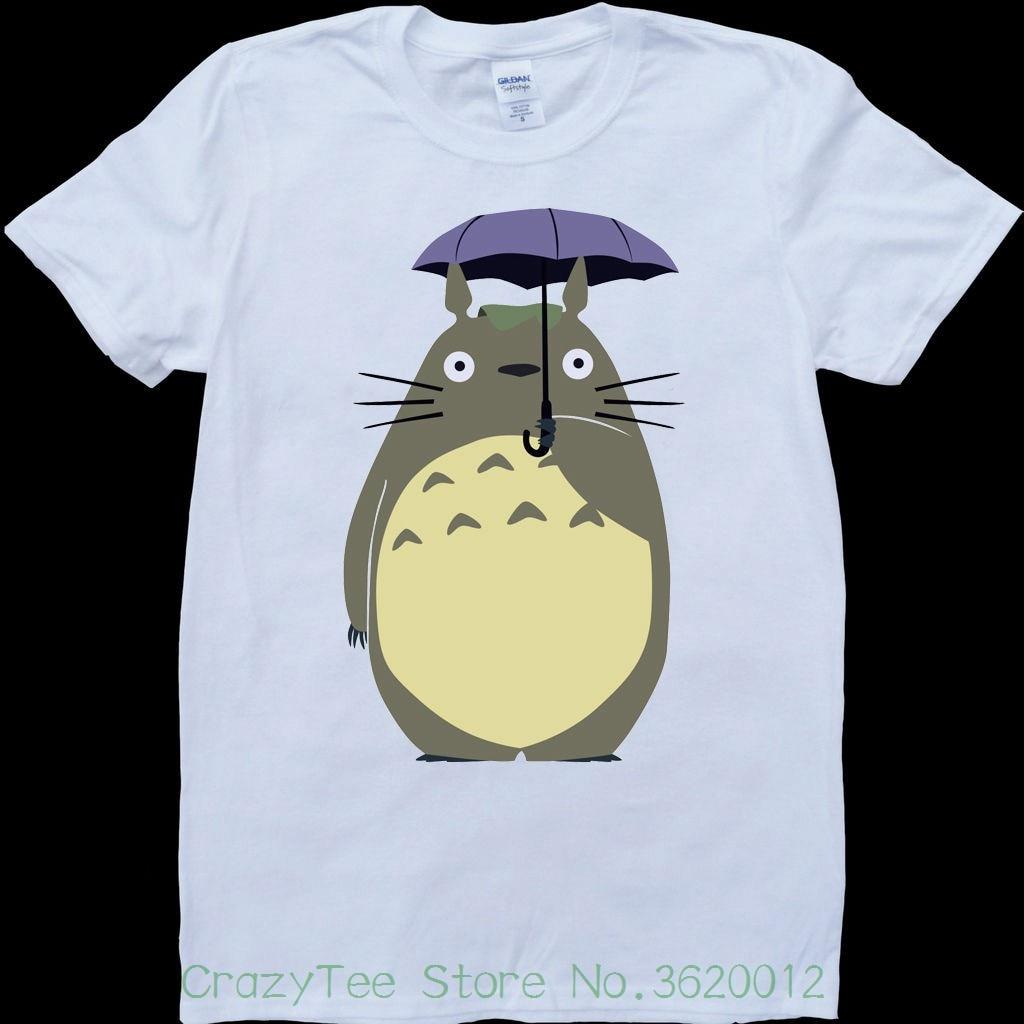 Camiseta de mujer My Neighbor Totoro con Paraguas Blanco para hombre, camiseta personalizada, oferta barata, camisetas para mujer