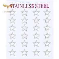 silver color hollow star earrings stainless steel stud earrings set fashion woman jewelry wholesale 12 pairs earring set