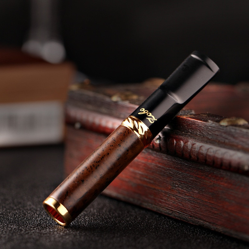 Boquilla de filtro de tabaco reducir el cigarrillo de alquitrán Portable titular reutilizable madera de bolsillo manga fumar regalos de San Valentín