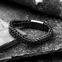 stainless steel weave design chain bracelet men unisex couple punk style bracelet clothing ornaments boyfriend domineering gift